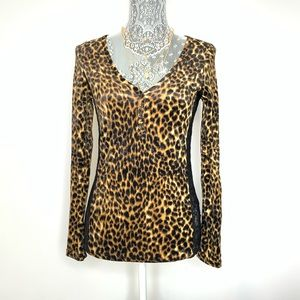 RALPH LAUREN DENIM SUPPLY LEOPARD LS TOP SIZE XS